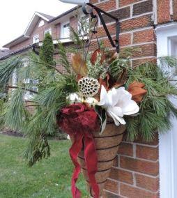 Winter Hanging Basket Arrangement