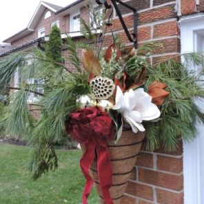 Winter Hanging Basket Arrangement
